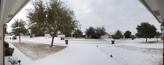 Austin snowfall 2011