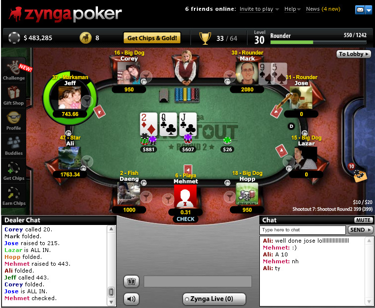 Zynga Poker Math
