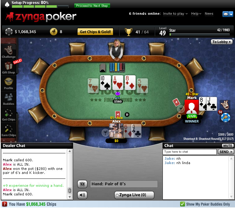 Zynga won final table