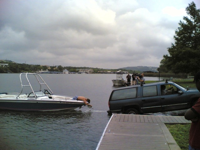 film crew at dock