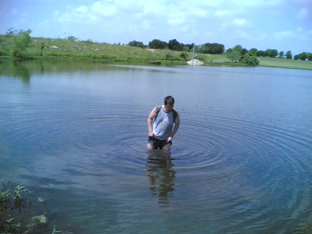 Jon in the water