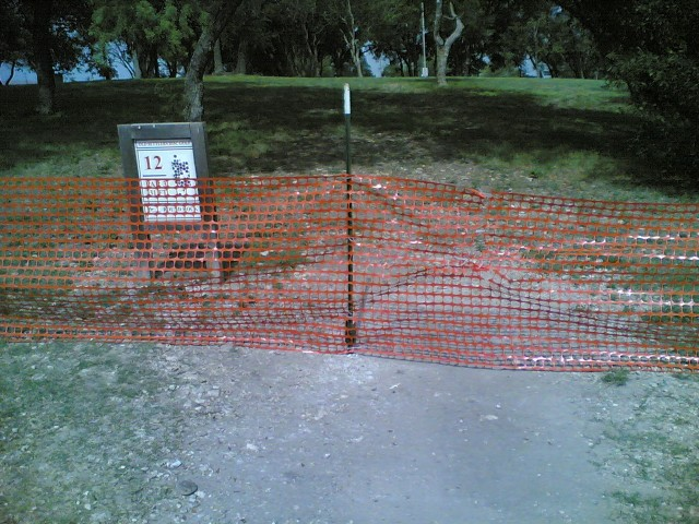 Barriers on hole 12