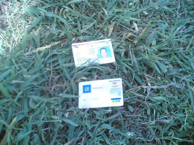 Found License and Bank Card