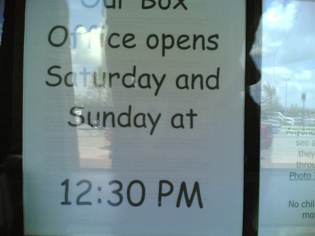 theater opens later