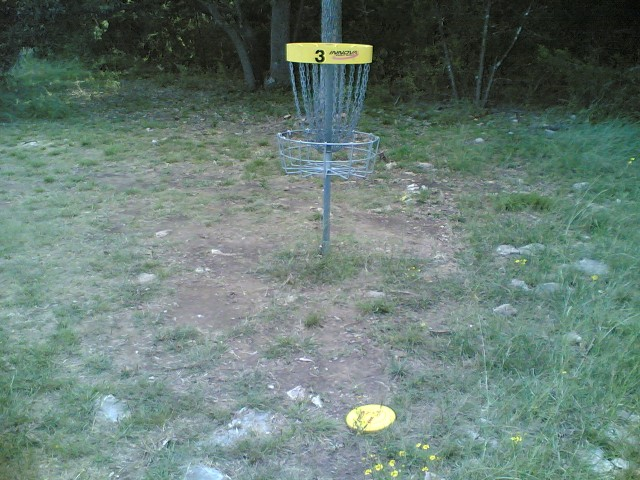 Good throw #3 on hole three