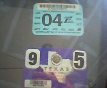 registration sticker old