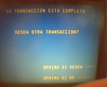 Spanish ATM screen