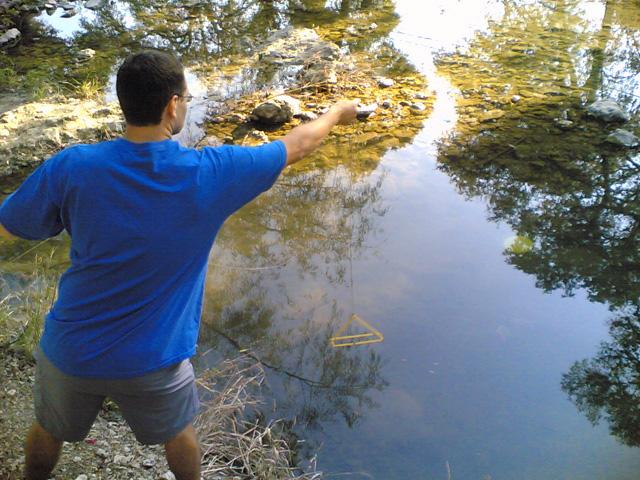 John in the water
