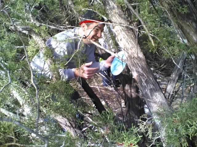 Jon inside a tree