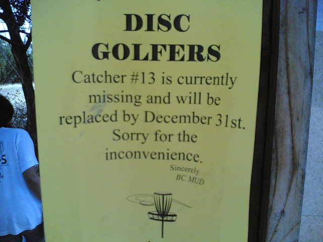 hole 13 will be replaced!
