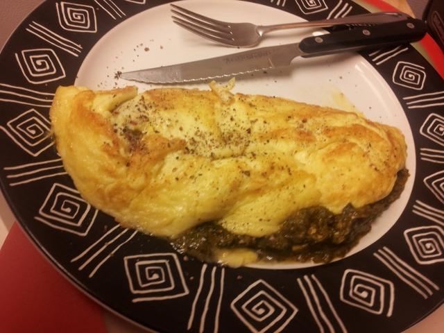Palak paneer omelette