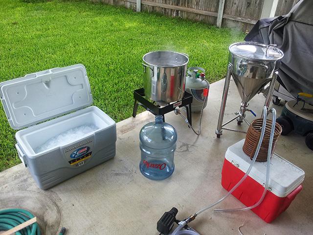 Outside brew setup #1