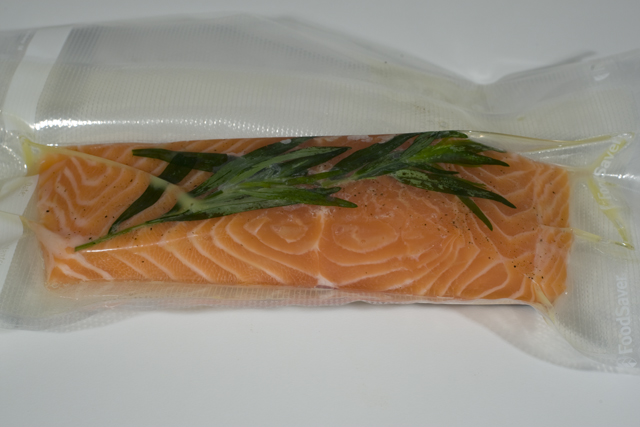 Salmon Sous Vide before