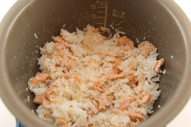 Salmon Rice mixed