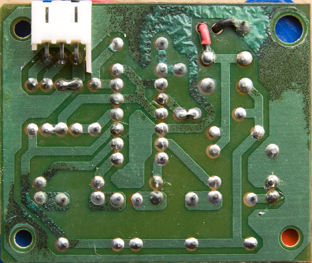 Corroded circuit board