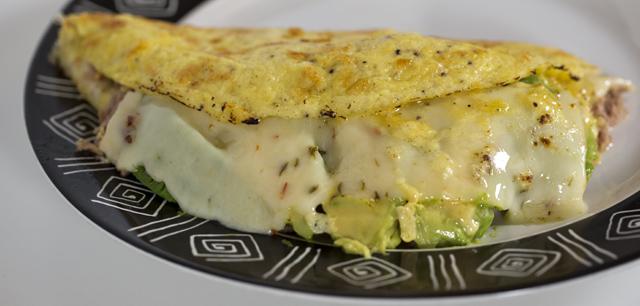Tuna melt omelette