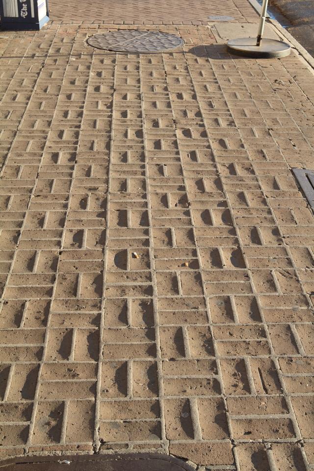 worn pavement