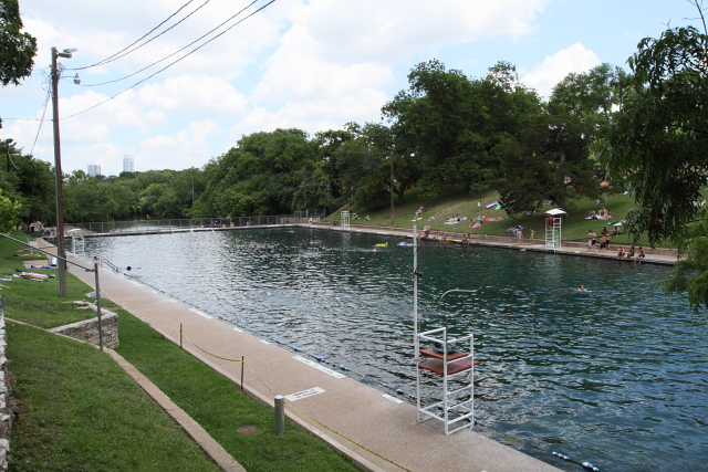 Swimming in Barton Springs