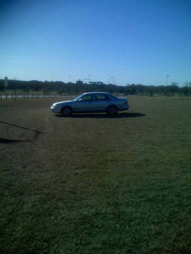car in field