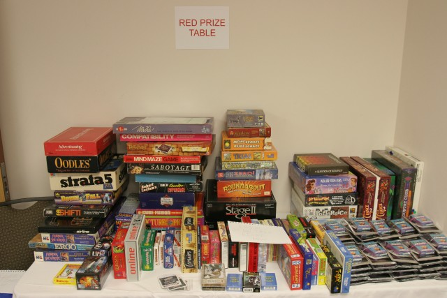 Red prize table