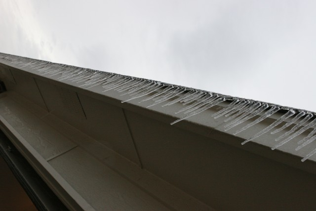 Icy roof