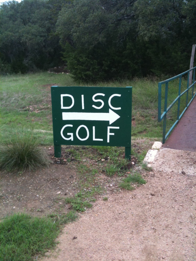 Disc Golf sign #1