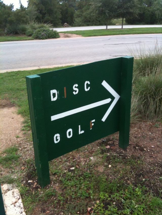 Disc Golf sign #2