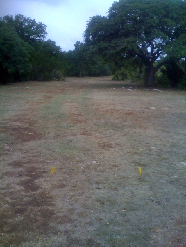 Extra tees on Hole 3