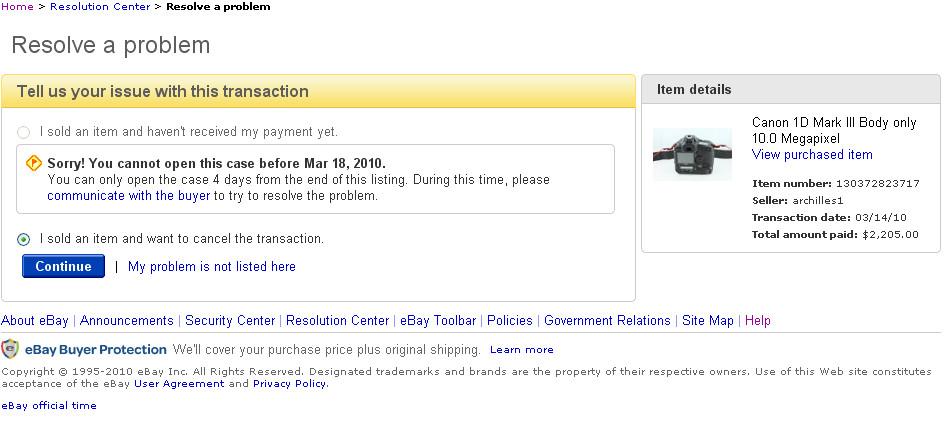 eBay Problem #1